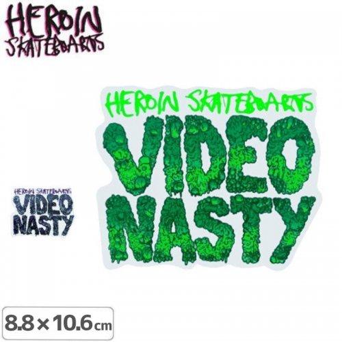 【HEROIN ヘロイン スケボー ステッカー】Video Nasty【2色】【10.6cm×8.8cm】NO18