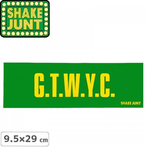 【シェイクジャント SHAKE JUNT スケボー ステッカー】GTWYC【9.5cm×29cm】NO36