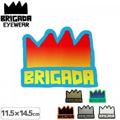 【ブリガーダ BRIGADA ステッカー】CROWN【11.5cm×14.5cm】【6カラー】NO2