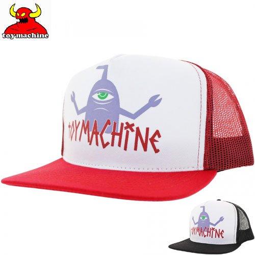 【TOY MACHINE トイマシーン スケボー キャップ】T-SECT LOGO MESH SNAPBACK HAT【ブラック】【レッド】NO41
