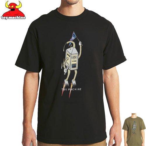 トイマシーン TOY MACHINE スケボー Tシャツ ROBOT SECT TEE ブラック ミリタリーグリーン NO239