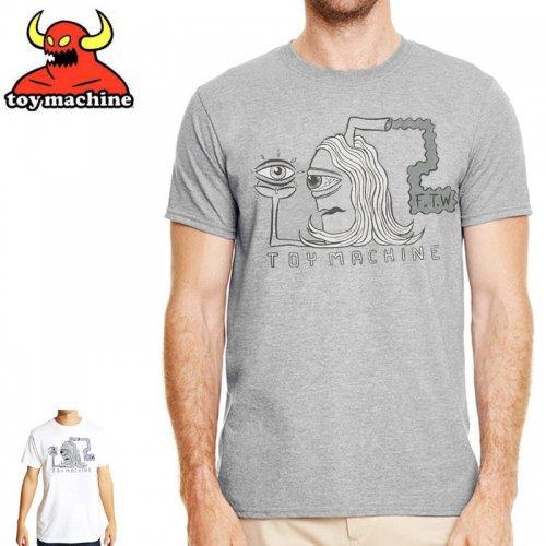 トイマシーン TOY MACHINE スケボー Tシャツ F.T.W. TEE ヘザーグレー ホワイト NO240