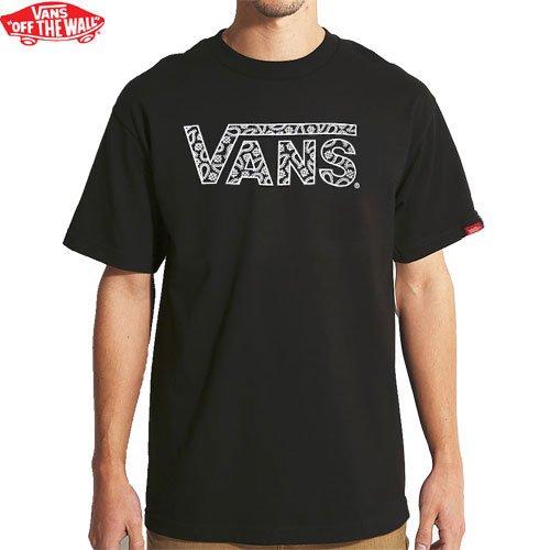 【VANS バンズ スケボー Tシャツ】CLASSIC PRINT TEE ペーズリー【ブラック】NO1