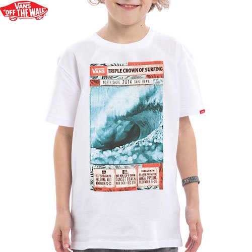 【VANS バンズ キッズ Tシャツ】2014 VTCS POSTER TEE ボーイズ【ホワイト】NO1