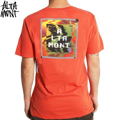 【オルタモント ALTAMONT スケボー Tシャツ】BIT STEP TEE【オレンジ】NO49