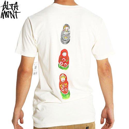 【オルタモント ALTAMONT スケボー Tシャツ】THE FIELD IS FAIR TEE【クリーム】NO50