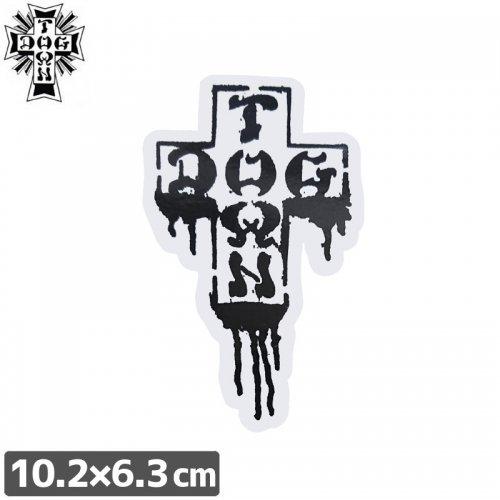 専門店のスケートステッカースケボーやヘルメット・クルーザーに!【ドッグタウン DOG TOWN スケボー STICKER ステッカー】CROSS DRIP【10.2cm×6.3cm】NO8