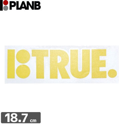 【プランビー PLAN-B スケボー STICKER ステッカー】TRUE【6.3cm×18.7cm】NO01