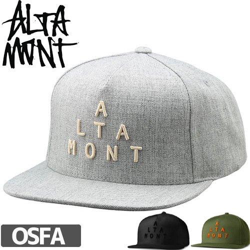 【オルタモント ALTAMONT スケボー キャップ】ALPHA SNAPBACK HAT スナップバック NO23
