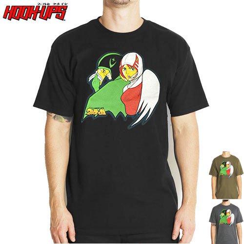 SALE! 【HOOK UPS フックアップ スケボー Tシャツ】GALUXY FORCE TEE【ブラック】【グレー】【カーキ】NO10