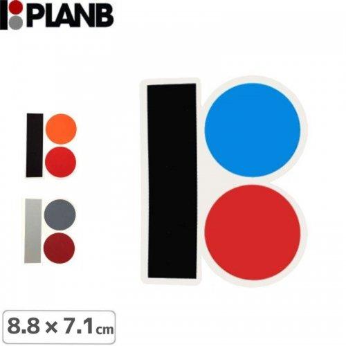 【プランビー PLAN-B スケボー STICKER ステッカー】LOGO【3色】【8.8cm×7.1cm】NO03