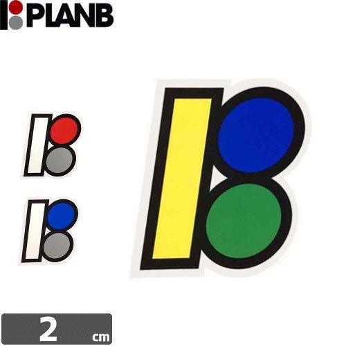 【プランビー PLAN-B スケボー STICKER ステッカー】LOGO MINI【3色】【2cm×1.5cm】NO05