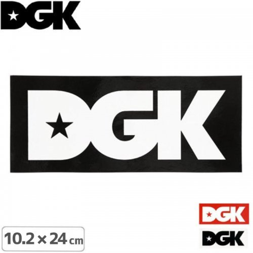 【ディージーケー DGK スケボー ステッカー】LOGO XL【3色】【10.2cm×24cm】NO24