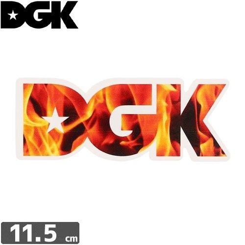 【ディージーケー DGK スケボー ステッカー】FIRE【4.4cm×11.5cm】NO33