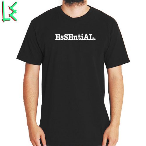 SALE! 【エルイー LE SKATEBOARDS Tシャツ】ESSENTIAL TEE【ブラック】NO3