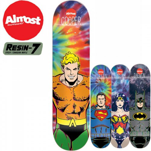 【オルモスト ALMOST デッキ】DC COMICS HERO TIE DYE DECK[8.2インチ]NO48