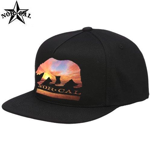 【ノーカル NORCAL スケボー キャップ】SUNSET BEAR TWILL HAT【ブラック】NO5