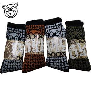 ピッグウィール スケートボード ソックス PIG WHEEL Houndstooth Socks