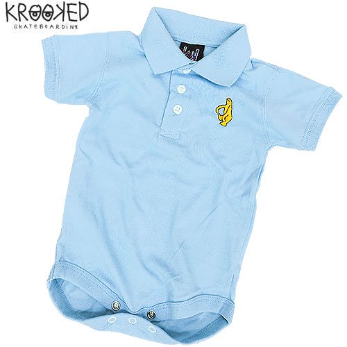 【KROOKED クルックド ベビー服】BABY POLO ROMPERS【ロンパース】【ポロシャツ】NO10