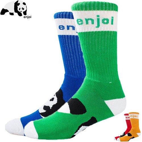 【ENJOI エンジョイ スケボー ソックス】MIXED PANDA FOOT SOCKS【2カラー】NO12