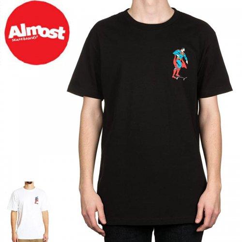 【ALMOST オルモスト スケートボード Tシャツ】SUPER MONGO TEE【2COLOR】【スーパーマン】NO35