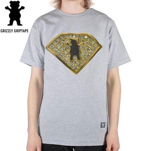 SALE! 【グリズリー GRIZZLY Tシャツ】TEAM RING TEE【ヘザーグレー】【DIAMOND SUPPLY】NO22