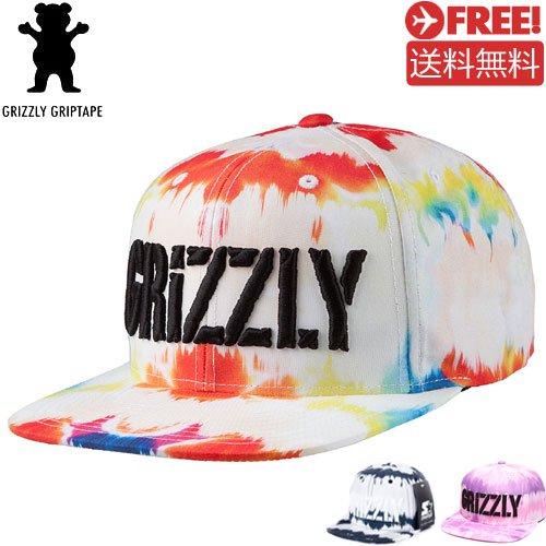 【グリズリー GRIZZLY キャップ】TIE DYE STAMP SNAPBACK HAT【3カラー】NO16