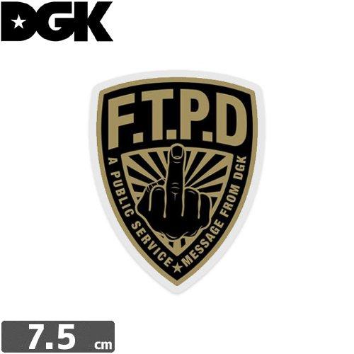 【ディージーケー DGK スケボー ステッカー】FTPD POLICE【7.5cm × 6cm】N89
