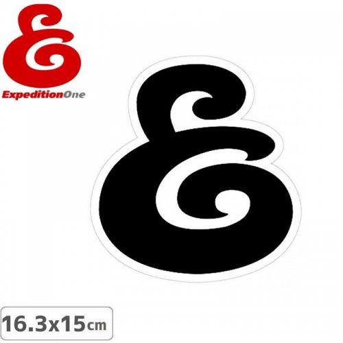 【エクスペディション ワン Expedition One ステッカー】BLACK LOGO【16.3cm x 15cm】No55