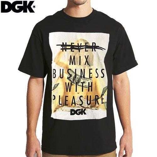 【DGK ディージーケー スケボー Tシャツ】NEVER MIX TEE【ブラック】NO297