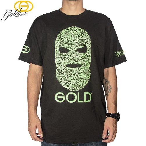 【GOLD WHEELS ゴールド スケボー Tシャツ】TEAM GOON TEE【ブラック】【蓄光プリント】NO93
