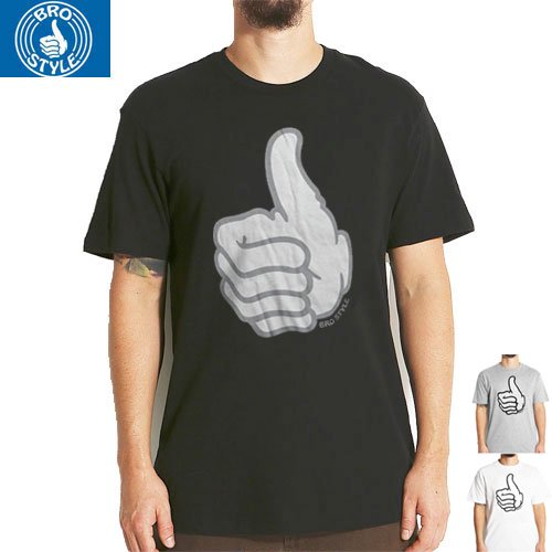 【BRO STYLE ブロスタイル スケボー Tシャツ】THUMBS UP TEE【3COLOR】NO1
