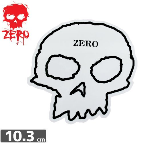 【ゼロ ZERO スケボー ステッカー】OG SKULL STICKER【9.7cm x 10.3cm】NO76