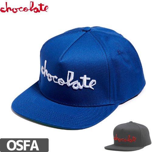 【チョコレート CHOCOLATE スケボー キャップ】CHOC CHUNK STRAPBACK HAT【2カラー】NO64
