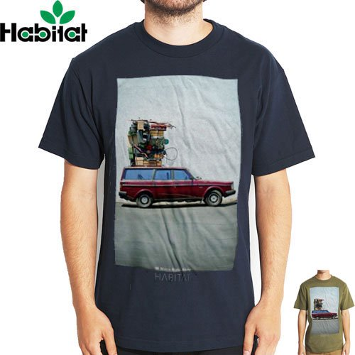【ハビタット HABITAT Tシャツ】MOVING ALONG TEE【2COLOR】NO13
