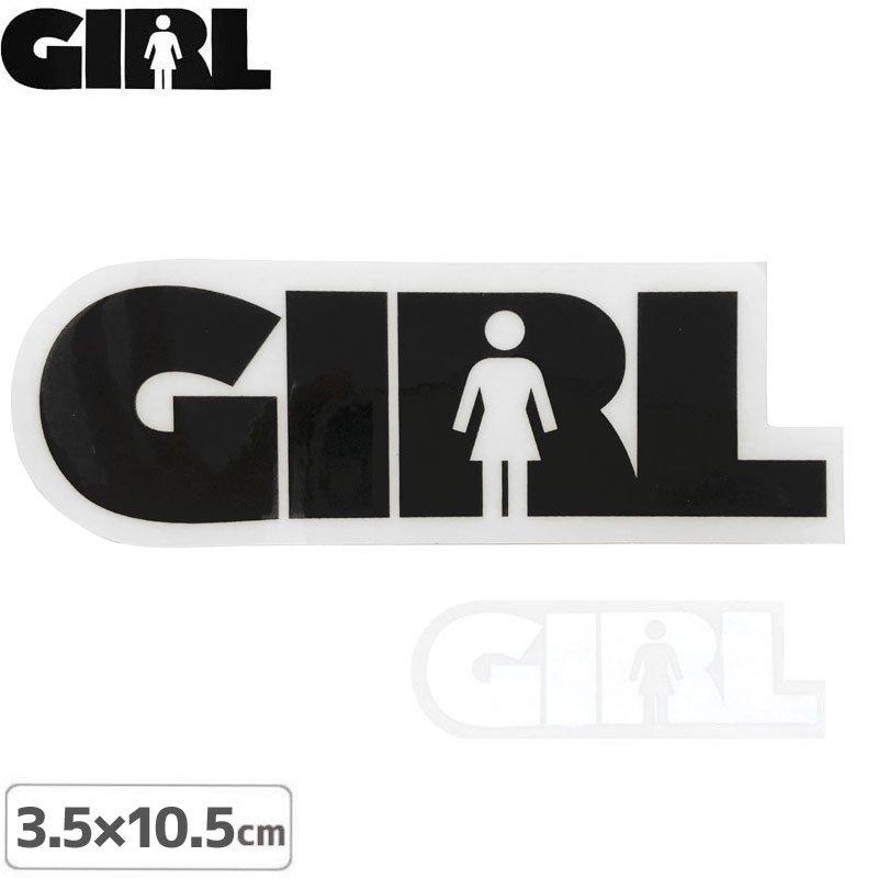 【GIRL ガールスケートボード STICKER ステッカー】LOGO STICKER【2色】【3.5cm x 10.4cm】NO77