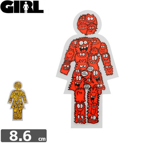 【GIRL ガールスケートボード STICKER ステッカー】MONSTER STICKER【8.6cm x 4.7cm】NO80