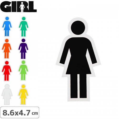 【GIRL ガールスケートボード STICKER ステッカー】LOGO STICKER【9色】【8.6cm x 4.7cm】NO81