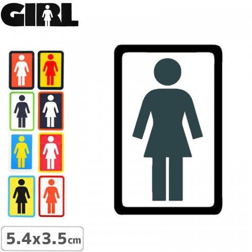 【GIRL ガールスケートボード STICKER ステッカー】BOX LOGO STICKER【5.4cm x 3.5cm】NO86