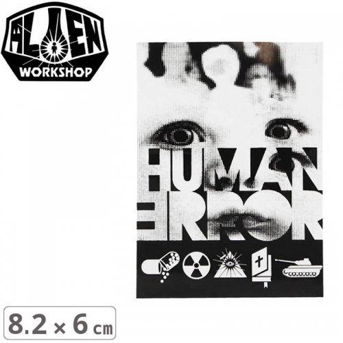 【エイリアンワークショップ ALIENWORKSHOP ステッカー】HUMAN ERROR STICKER【8.2cm x 6cm】NO44