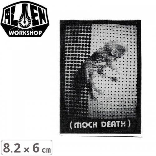 【エイリアンワークショップ ALIENWORKSHOP ステッカー】MOCK DEATH STICKER【8.2cm x 6cm】NO45