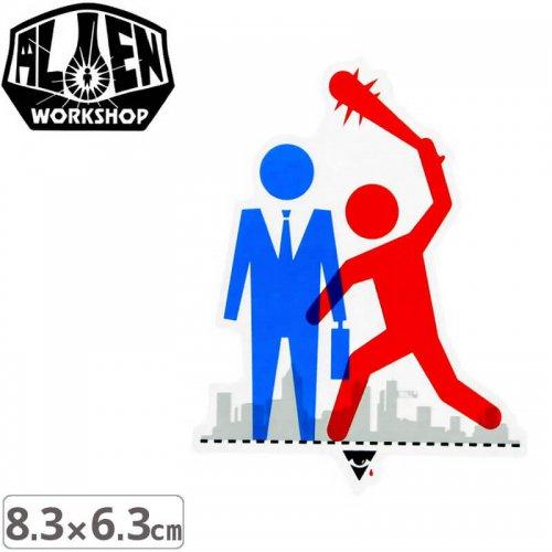 【エイリアンワークショップ ALIENWORKSHOP ステッカー】WALL STREET STICKER【8.3cm x 6.3cm】NO46