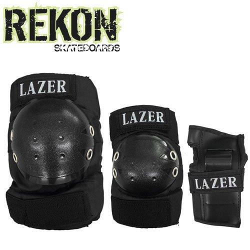 【REKON リーコン スケボー プロテクター】LAZER 3 IN 1 PAD SET【キッズ】【プロテクターセット】NO2