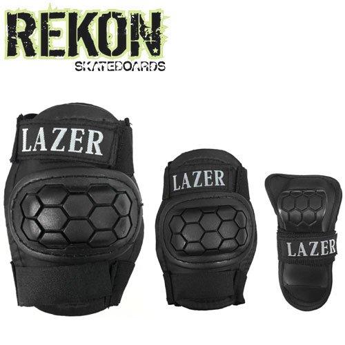 【REKON リーコン スケボー プロテクター】LAZER 3 IN 1 PAD SET【キッズ】【プロテクターセット】NO3