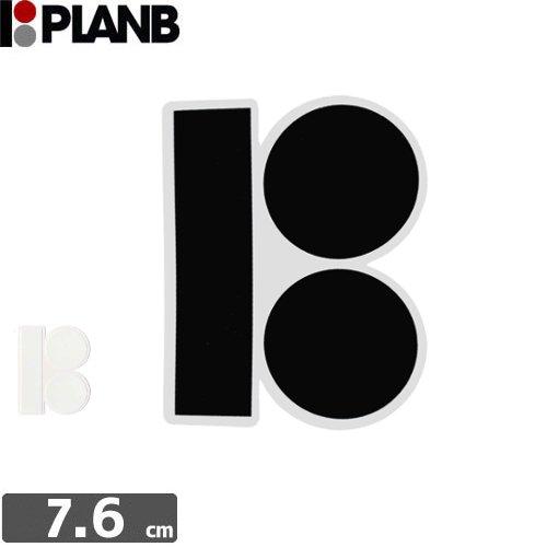 【プランビーPLAN-Bスケボーstickerステッカー】B-LOGO STICKER【2色】【7.6cm×6.2cm】NO7
