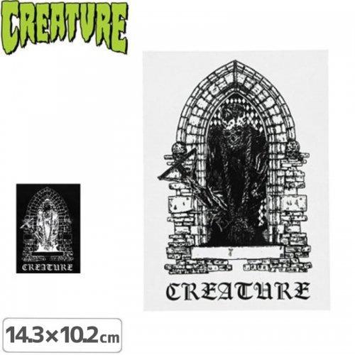 【クリーチャー CREATURE スケボー ステッカー】ETERNAL STICKER【2カラー】【14.3cm x 10.2cm】NO27