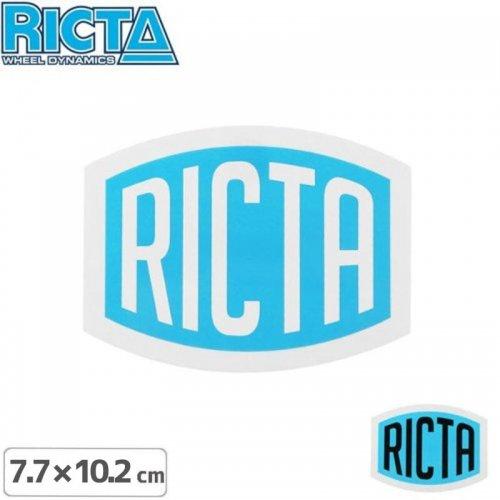 【リクタ RICTA スケボー ステッカー】LOGO STICKER【7.7cm x 10.2cm】NO2