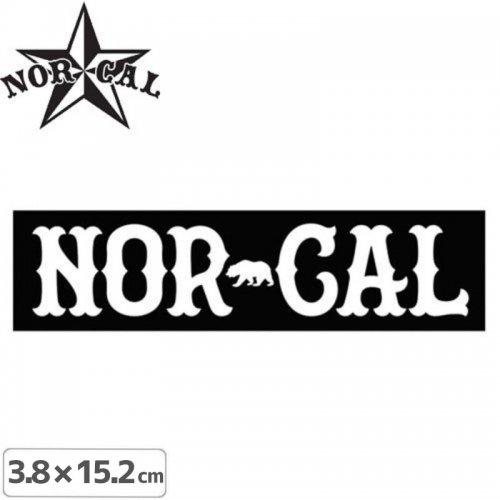 【ノーカル NOR CAL ステッカー】TRUE NORTH STICKER【3.8cm x 15.2cm】NO24