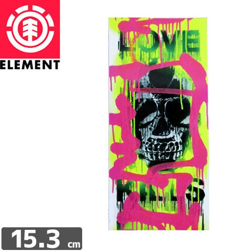 【エレメント ELEMENT ステッカー】MUSKA LOVE KILLS STICKER【15.3cm x 7.1cm】NO8