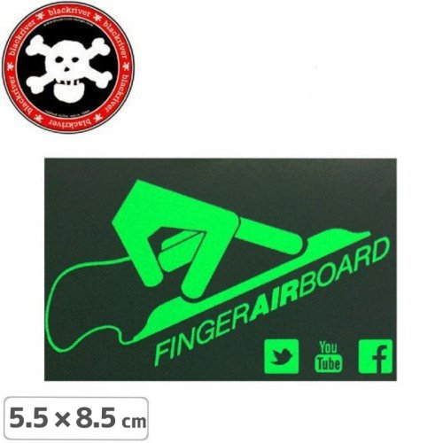【BLACKRIVER ステッカー】FAB FINGER AIR BOARD STICKER【5.5cm x 8.5cm】NO12